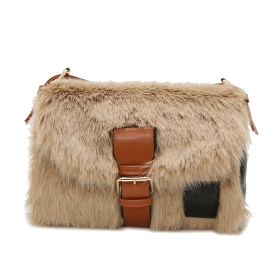 Autumn and winter new large-capacity one-shoulder plush bag wild broadband Messenger bag 4