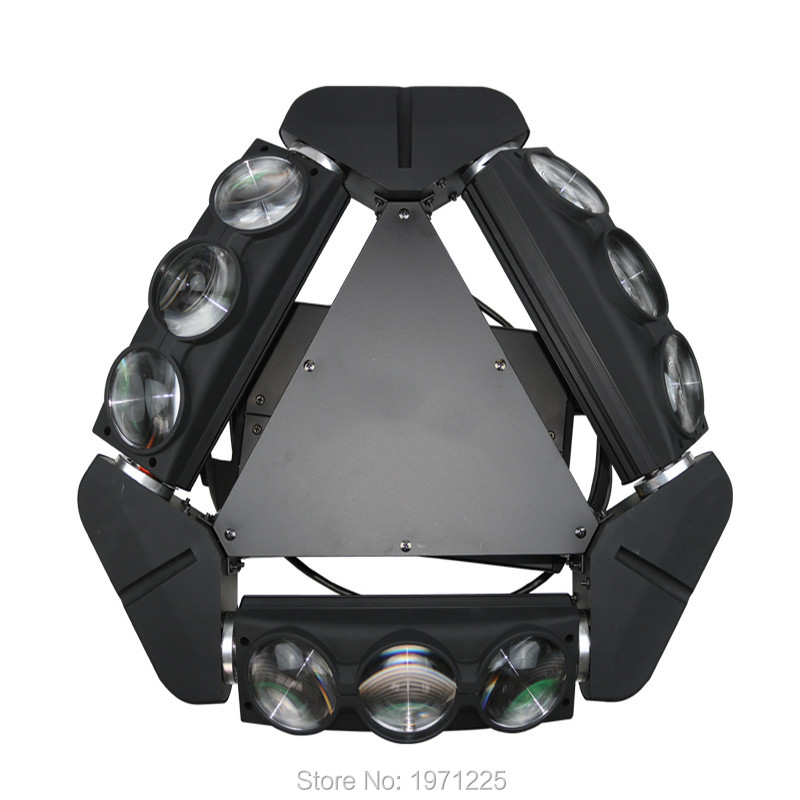 New Arrival CREE 9x10W Led Spider Light RGBW 9 43CH DMX Stage Lights Dj Led Spider