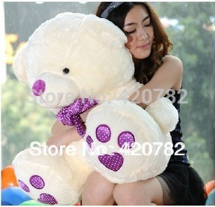 45cm 1 Pcs New Arrival Kawaii Purple Foot Teddy Bear Stuffed Plush Toy Doll Birthday Christmas Gift Sitting Height