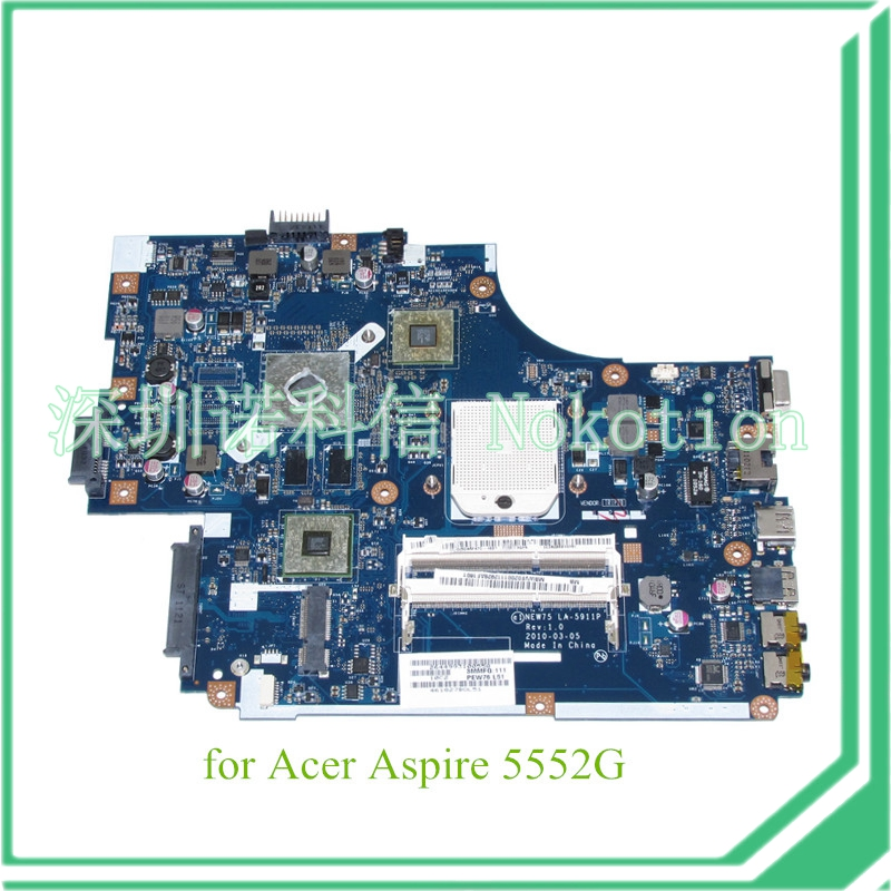 NOKOTION NEW75 LA-5911P MBWVE02001 MB.WVE02.001 For acer aspire 5552g Motherboard ATI HD
