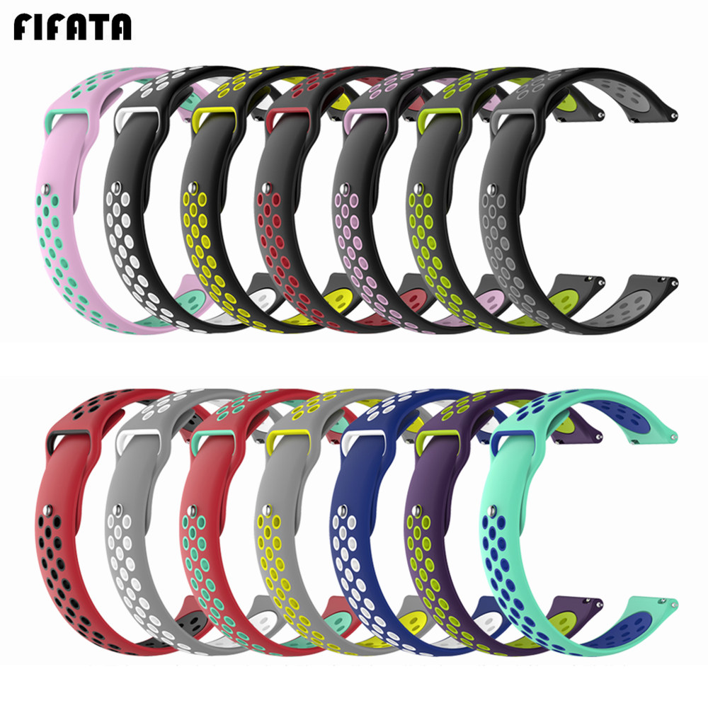 FIFATA 18mm Smart Watch Band Silicone Strap For Huawei Watch1/Honor S1/Fit/B5 Replacement Bracelet For Fossil Gen 4 Q Venture HR