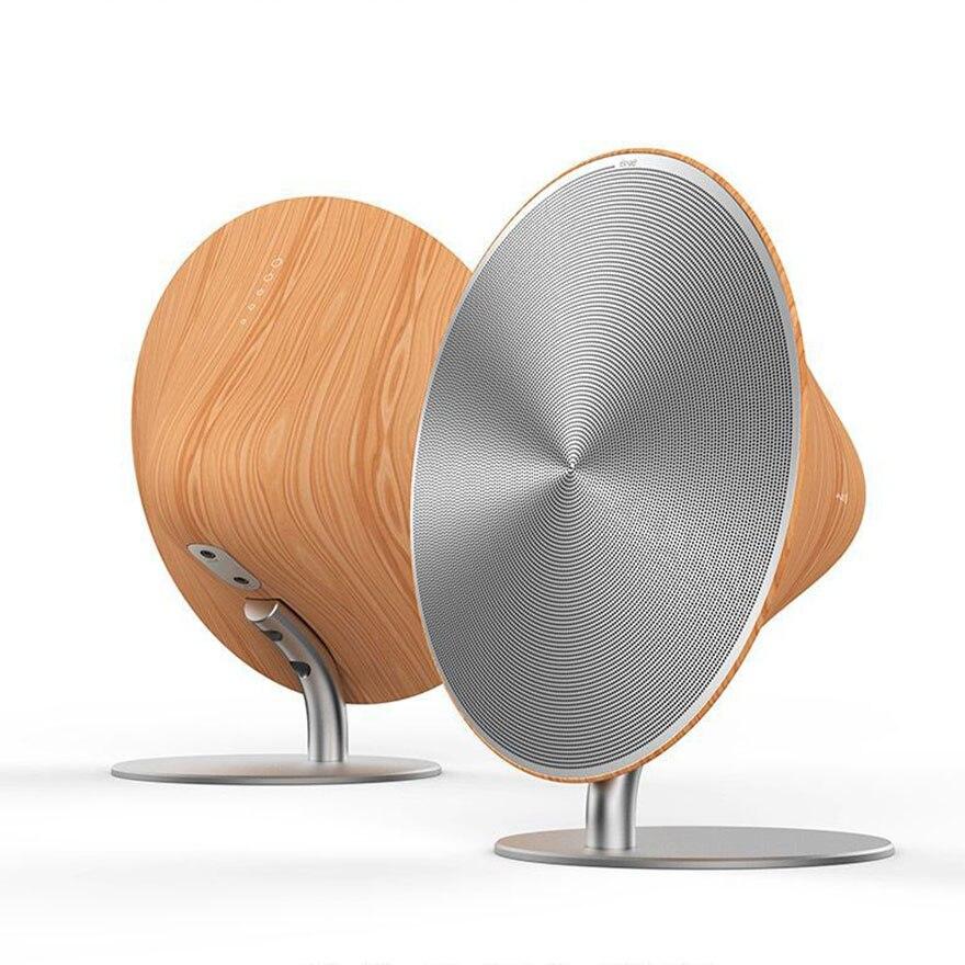Madeira sem fio bluetooth alto-falante nfc alta fidelidade estéreo super bass soundbar com botão de toque música surround player música caixa som