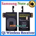 Qi de carregamento sem fio receiver para samsung galaxy note 4 n9100 adaptador sem fio do carregador receiver para samsung galaxy note 4