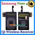 Receptor inalámbrico de carga para samsung galaxy note 4 n9100 adaptador receptor cargador inalámbrico qi para samsung galaxy note 4