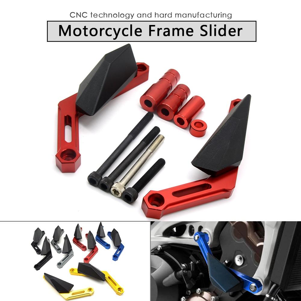 For Yamaha MT-09 2013 2014 2015 2016 CNC billet modified Frame Sliding Block Motorcycle Crash Protection Engine fz-09 yamaha dbr15