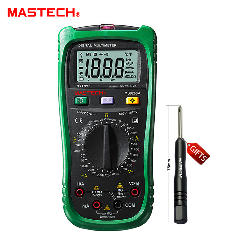 ФОТО Mastech MS8260A Multimeter Digital Professional DMM LCR Meter Detector Volt Stick Tester Electrical AC/DC Ammeter Voltmeter