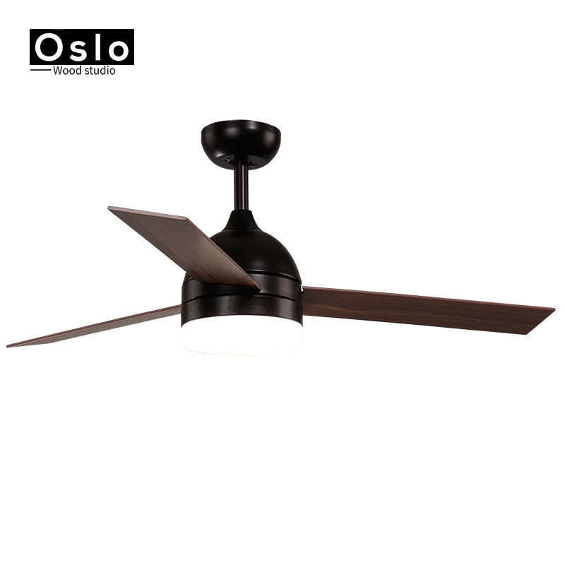 Скандинавский современный Ретро светодиодный потолочный вентилятор свет столовая спальня гостиная ресторан твердый деревянный веер лампа декоративное освещение