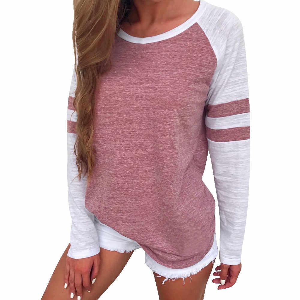 Áo thun Nữ Bông Tai Kẹp Áo Nữ Dài Tay sọc Áo Crop Top Thun Bé Gái đáng yêu Nữ Quần Áo camiseta