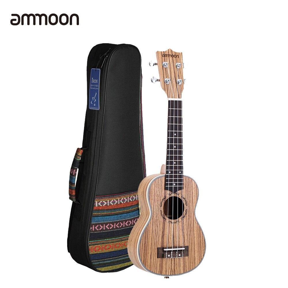 """ammoon 21 Ukulele Mini Acoustic Ukulele with 21"""" Ukulele Bag Wood Ukelele 15 Fret 4 Strings Musical Stringed Instrument-in Ukulele from Sports & Entertainment    1"""