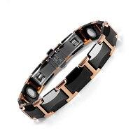 Adjustable Unisex Magnetic Ceramic Bracelet Health Energy Wristband Women Black Tungsten Bracelets