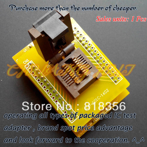 GDP-SOIC-1602  Programmer Adapter FP-16-1.27-05 Test Socket SOP16 To DIP16 Adapter For LT48XP/48UXP/LT848