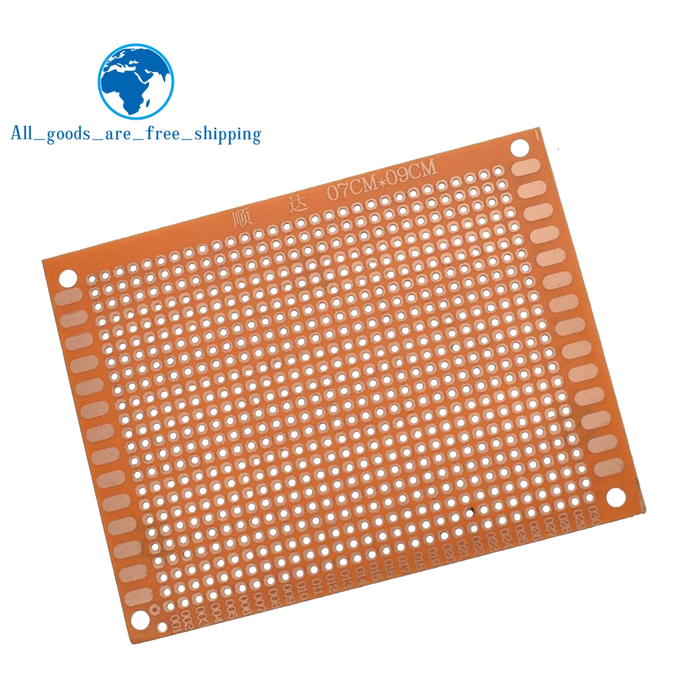 5pcs 7x9 79cm Single Side Prototype Pcb Breadboard Universal Board Bread Also Known As Or Ic Test Because 1pcs Experimental Bakelite Copper Plate