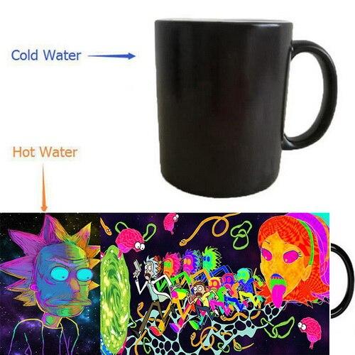 Rick and Morty mugs cold hot heat sensitive mug Back To The Future mug heat reveal cup magic tea coffee Cups novelty ceramic cup