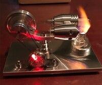 2017 New DIY Hot Air Stirling Engine Model Generator Motor with LED Light Steam Generator Model Hobby Birthday Gift Toys NEW