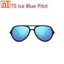 Xiaomi TS buz mavisi aviator güneş gözlüğü polarize lens büyük çerçeve tasarım entegre burun pedi tasarım renkli buz mavi lens