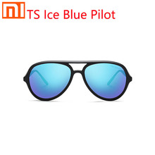 Xiaomi TS ice blue aviator Sun Glasses polarized lens large frame design integrated nose pad design colorful ice blue lens