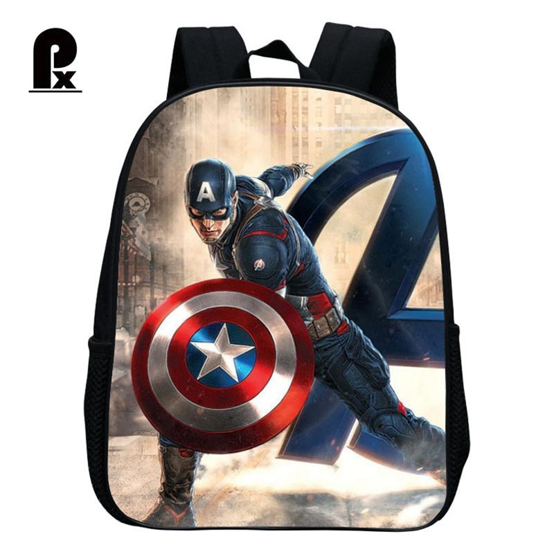 New Kindergarten Children School Bag Cartoon Cool Heroes Backpacks Kid Small Backpack Mini Captain America School