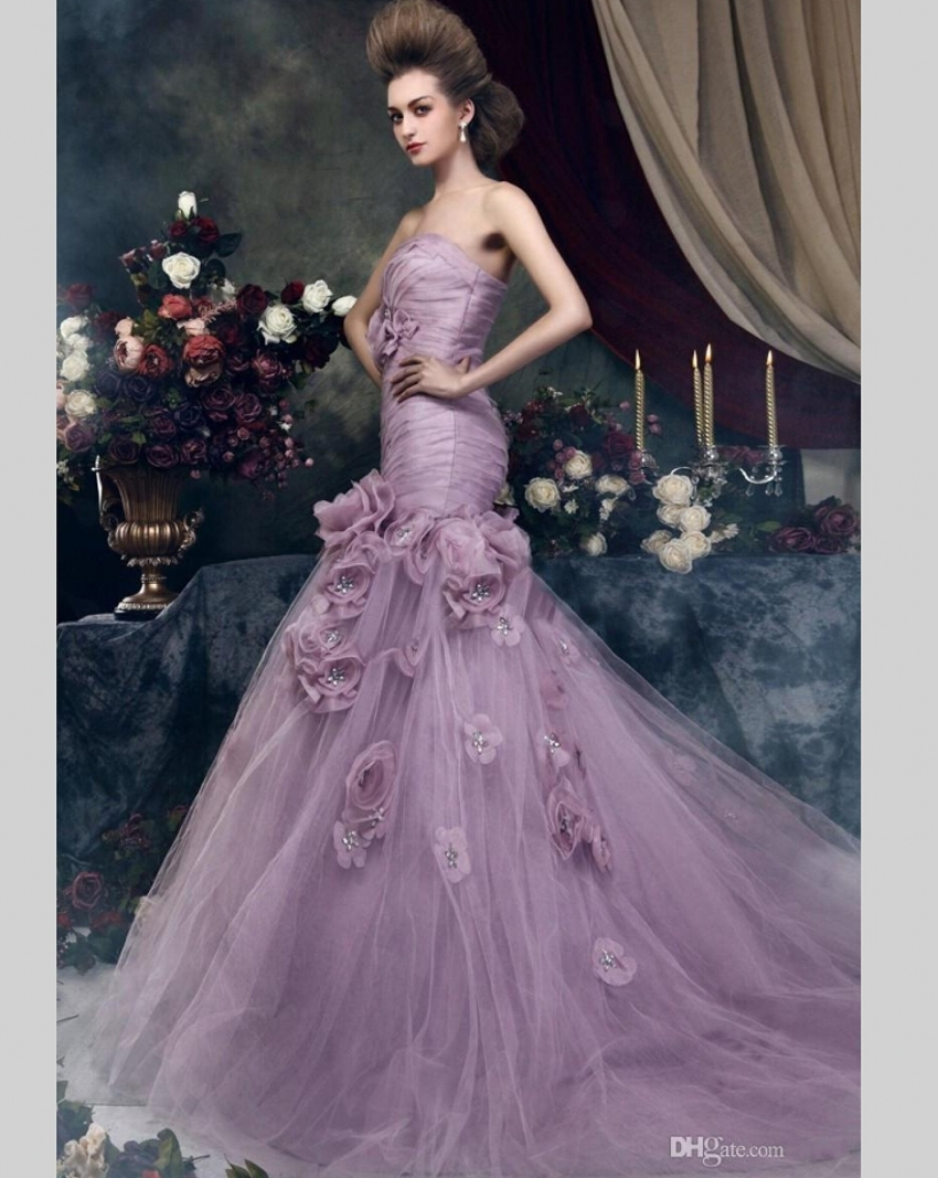 Online Get Cheap Purple Wedding Gowns