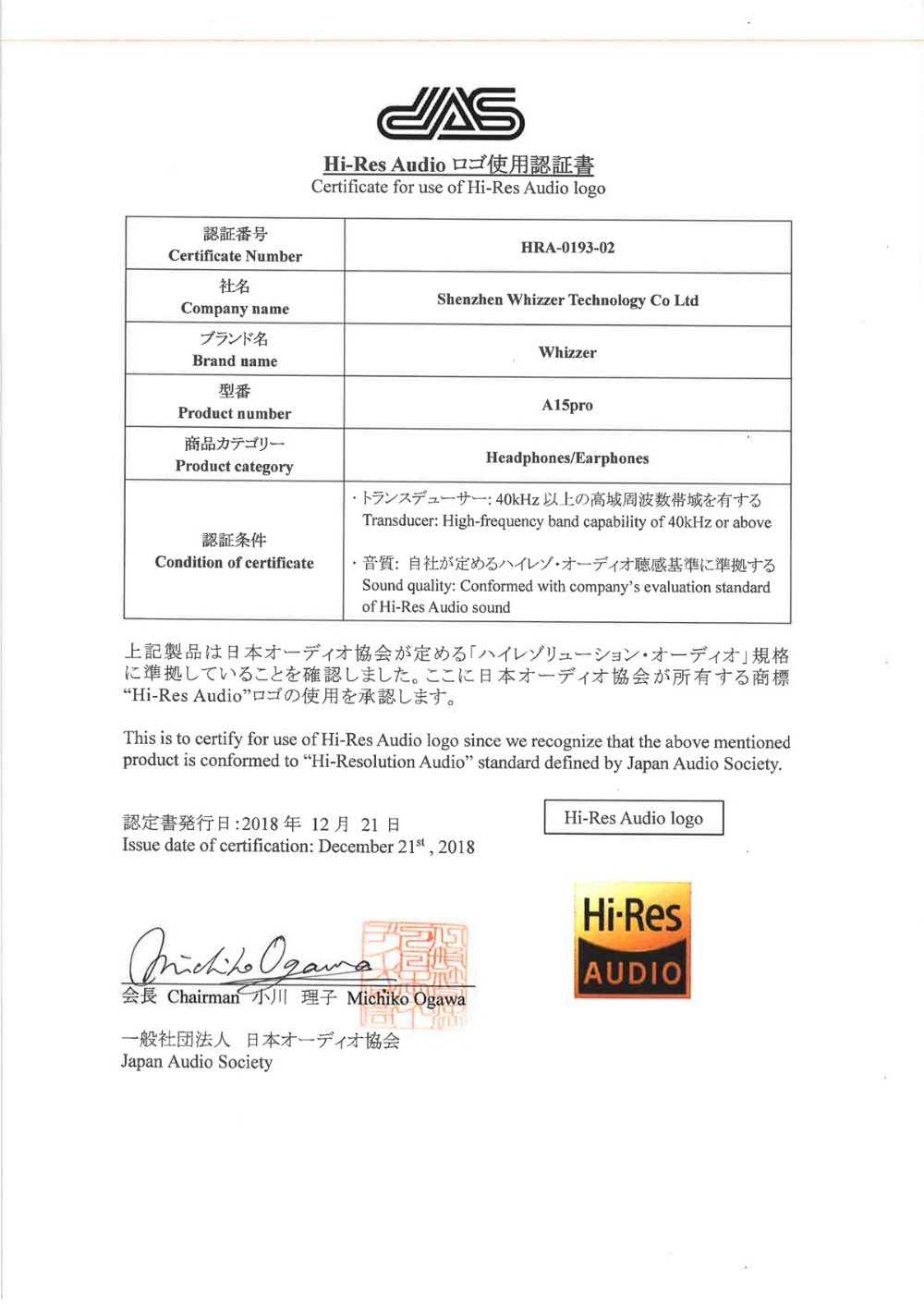 HRA Certificate_2_Whizzer_A15pro