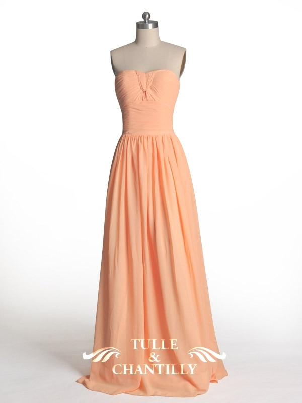 peach bridesmaid dresses chiffon