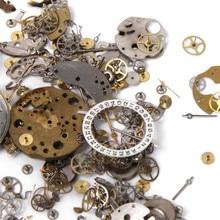 Precio al por mayor de Calidad Superior 50g Un Paquete Reloj de Chatarra De Diferentes Piezas de BRICOLAJE Materiales de Arte Accesorios de Reparación de Relojes