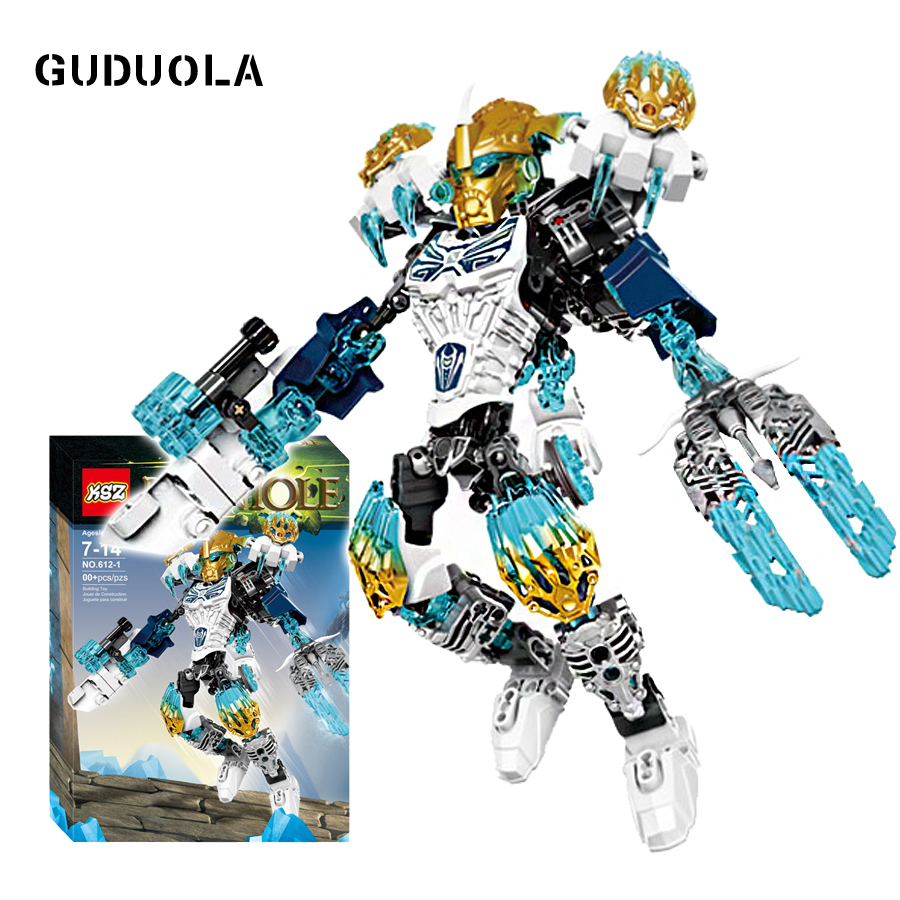 Guduola BIONICLE 131pcs Kopaka Ice figures 611-4 Building Block toys Compatible legoing BIONICLE best gift for boy a toy a dream new bionicle mask of light xsz 708 serieschildren s kopaka monster of ice bionicle building block toys