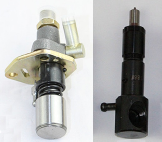Free shipping 186F injection pump and nozzle together injector pump and nozzle sell suit for kipor kama diesel engine common rail injector fuel diesel engine 0445120134 diesel injection nozzle assembly 0 445 120 134 and auto engine