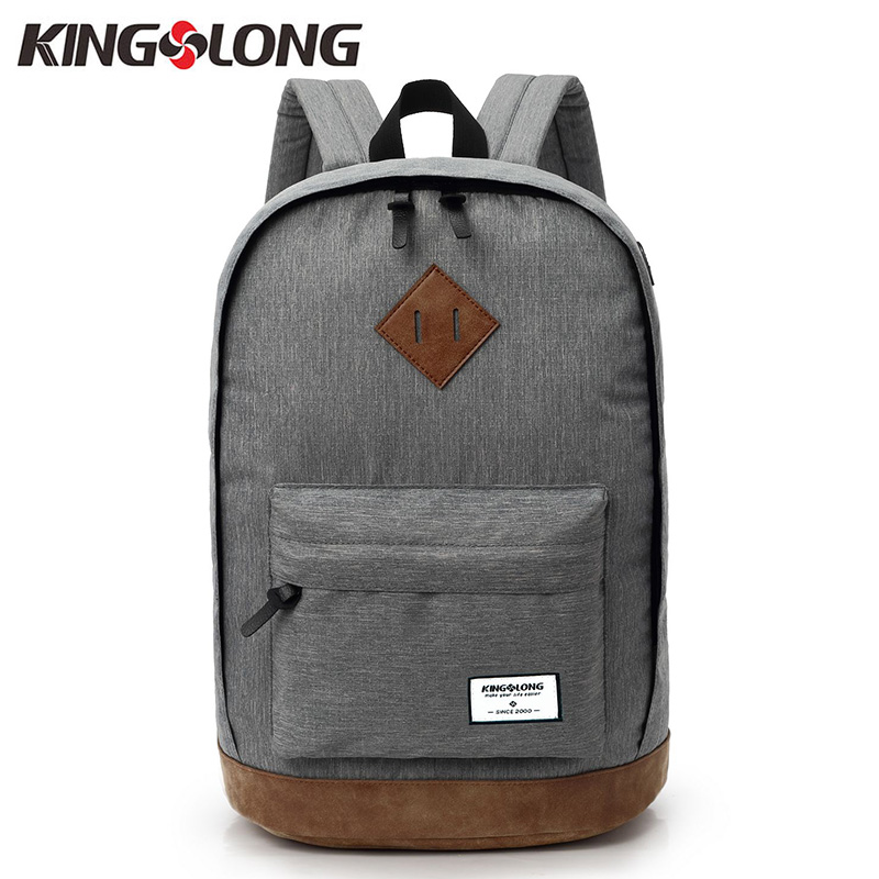 KINGSLONG 2018 New Unisex 15.6 Laptop Backpack Canvas Women Men School Bags Female Gray Black Mochila Backpacks for Teenagers gravity falls backpacks children cartoon canvas school backpack for teenagers men women bag mochila laptop bags