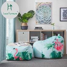 Луи мода ленивый диван Ins чистая красный ветер Фламинго личностное творчество, спальня маленькая квартира один мешок фасоли