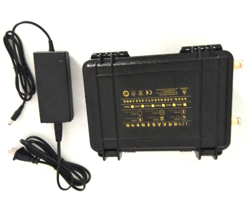 Wodoodporna 12 v 50ah akumulator litowo jonowy 12 v 50ah akumulator litowo jonowy bateria do 18650 port USB dla światła LED tworzenia kopii zapasowych moc poznaj + 5A ładowarka w Powerbanki od Elektronika użytkowa na  Grupa 1