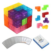 Zhenwei Magnetic Puzzles 7pcs Bricks 54 Smart Cards Brain Toy Brainteaser for Develop Kids Intelligence