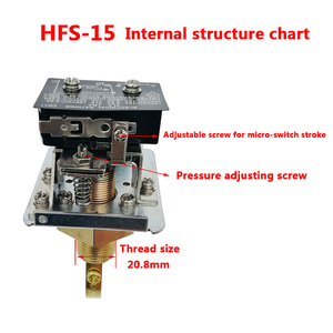 """Image 5 - Paddle Water Pump Flow Switch Water flow switch HFS 25 HFS 20 HFS 15 1"""" 1/2"""" 1/4"""""""