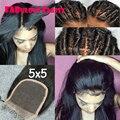 8a 5*5 lace closure brasileiro hetero 5x5 lace closure com branqueada knots gratuito médio 3 part swiss lace closure com cabelo do bebê
