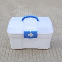 ZIDUKE Pharmacy Plastic Health Medicine Cabinet Pharmacy First Aid Kit Medical Box Custom Compartment Storage Box