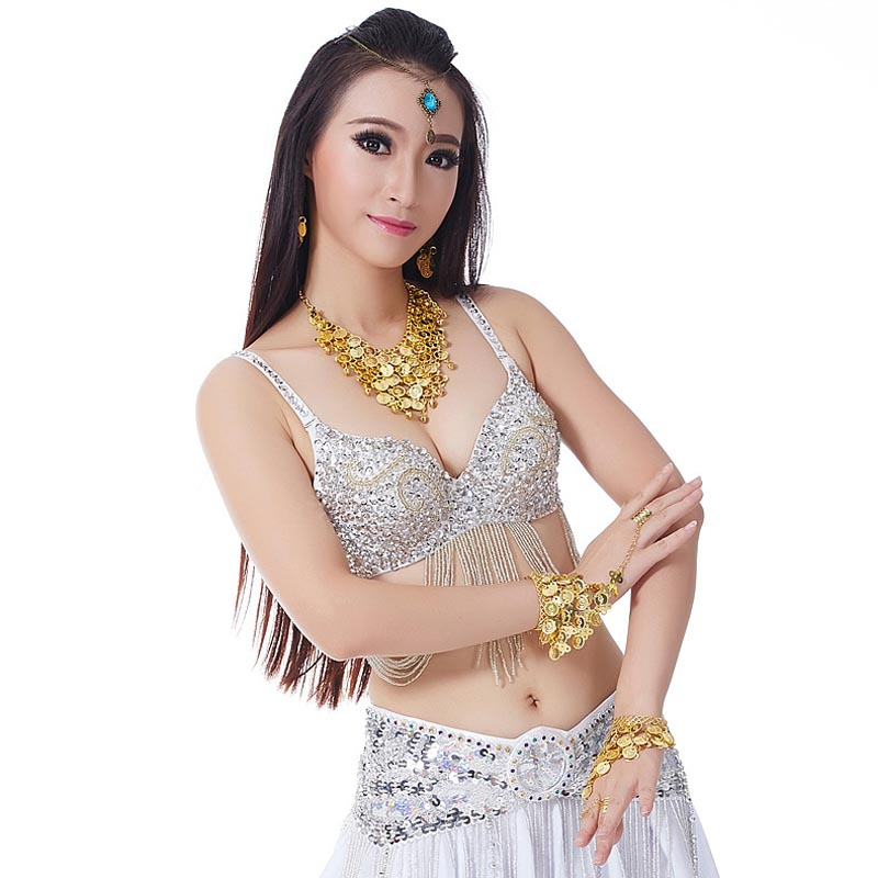 2020 Sexy Women Belly Dancing New Tassels Bra Belly Dance Suit 10 Colors Stage Show Clothing Bellydance Costumes Bra Top