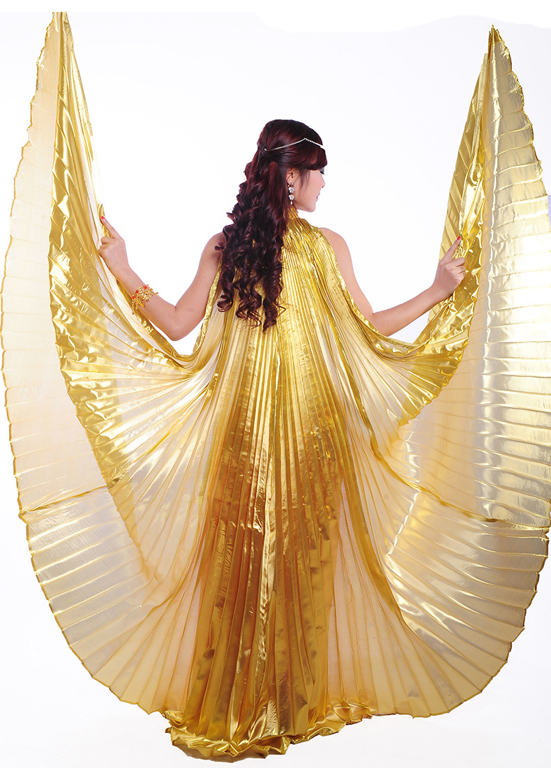 Exotic Belly Dance Isis Wings, Women's Belly Dance Opening Angel Isis Wings Costume Chinese Folk
