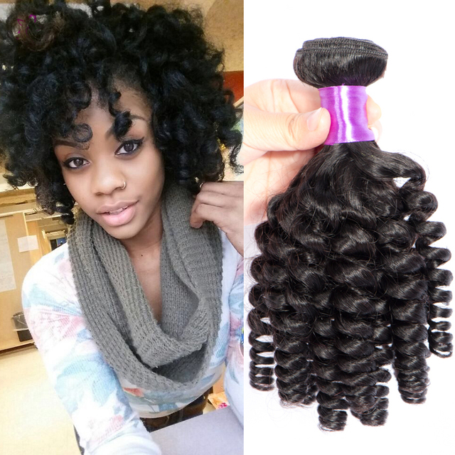 Queen Hair Products 8A Brazilian Aunty Fummi Virgin Hair 3 Bundle Deals  Bouncy Big Curly Weave 125c96362264