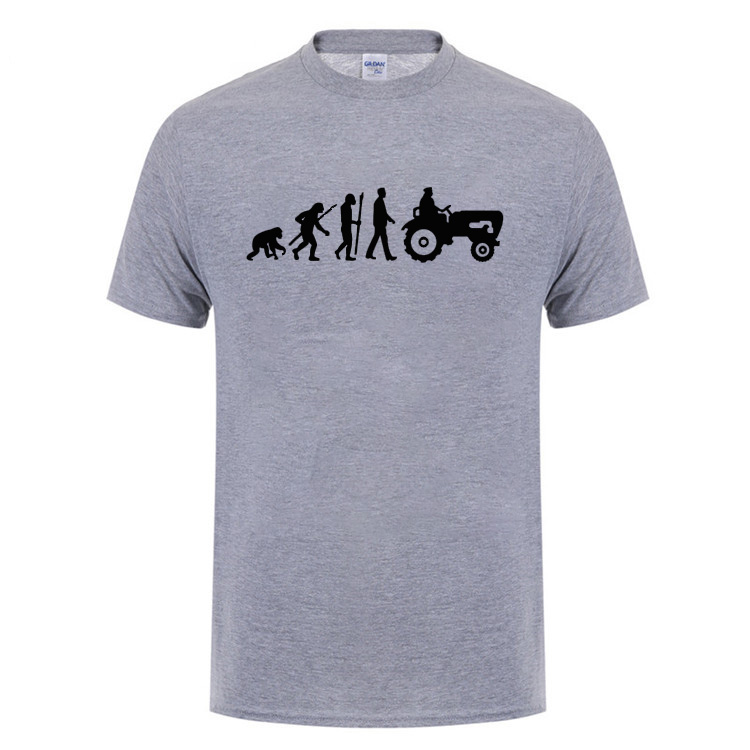 Evolution Born To Farm Tractor T Shirt Funny Birthday Gift For Farmer Dad Father Husband Men Summer Short Sleeve Cotton Shirts In From Mens