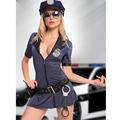 Blue Plus Size Sexy Police Costume Women Cosplay Policewoman Uniform Officer Cop Outfits Halloween Carnival Costumes Fancy Dress