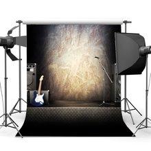 Band Concert Backdrop Hip Hop Backdrops Interior Stage Guitar Grunge Blurry Wallpaper Graduation Ceremony Background