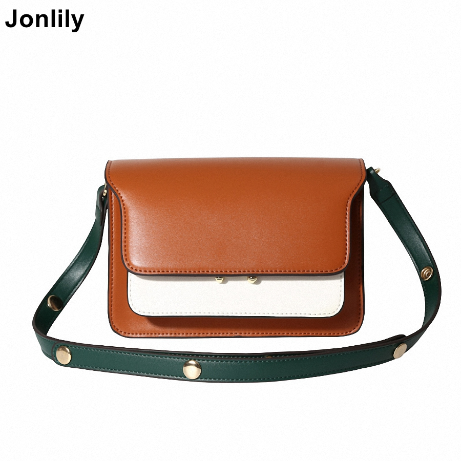 Jonlily Women s Shoulder Bags Handbag Leather Messenger Bags Female Crossbody Bags Purses Tote Bag for