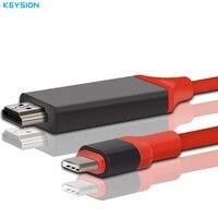 KEYSION USB 3 1 USB C To HDMI Cable Type C To HDMI Converter 4K 30Hz