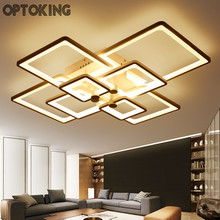 Новый Прямоугольник Акриловые светодиодный потолочный светильник современной гостиной потолочный светильник деко белого цвета домашние освещения