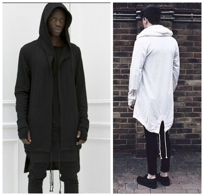 CHENXUAN New Fashion men s coat hoodies dovetail cardigan hiphop men hoody black cloak outerwear oversize