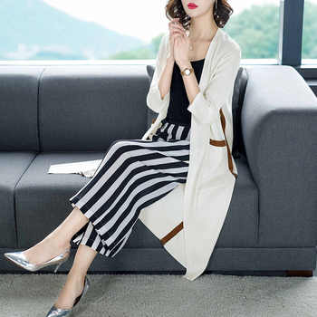 2019 Summer fall Women Medium-long poncho Female Knitted Cardigan Sunscreen thin coats Air Conditioning shirt cardigans feminino - DISCOUNT ITEM  35% OFF Women\'s Clothing