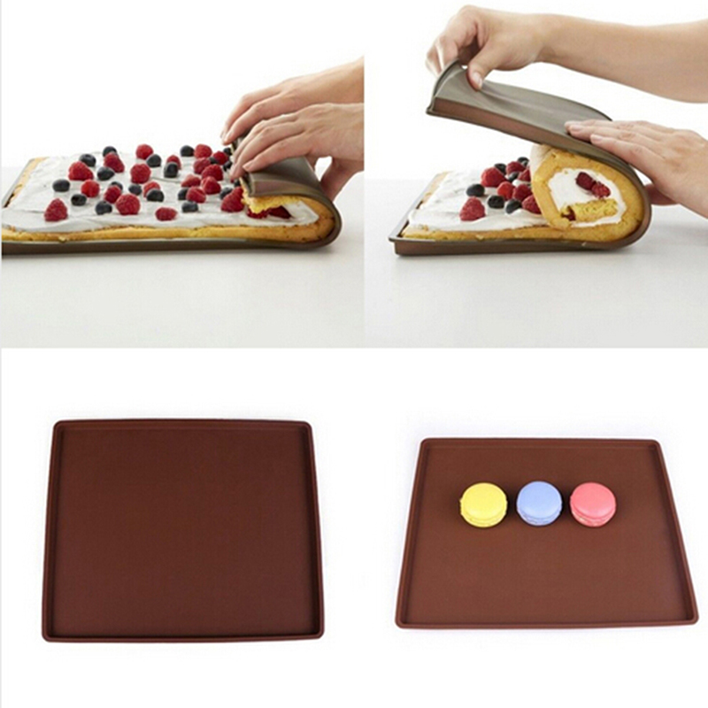 Grilled Rectangular Shape Silicone Swiss Cake Mat