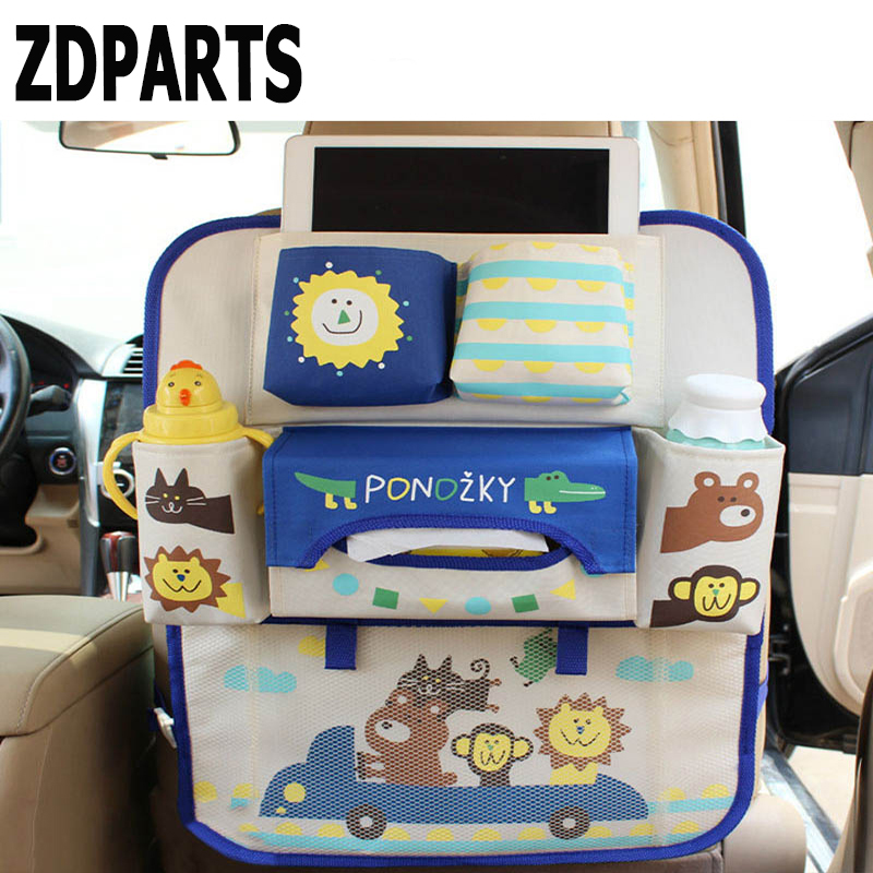ZDPARTS Cartoon Car Back Seat Luggage Net Organizer Covers For Mercedes Benz W203 W204 211 AMG Smart Starline A93 Citroen C4 C5