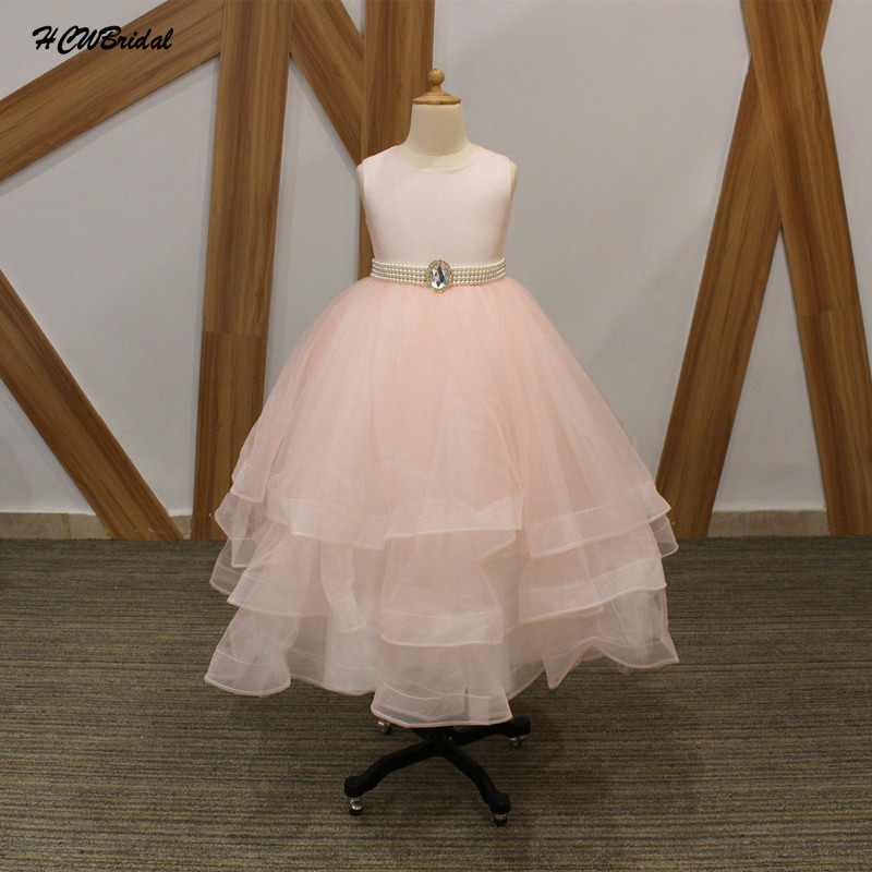 Lovely pink princess flower girl dresses with pearls sash 2018 cap lovely pink princess flower girl dresses with pearls sash 2018 cap sleeve tiered tulle little girl party dress cheap mightylinksfo