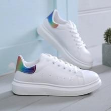 Women Shoes Fashion White Sneakers Chunky Vulcanize