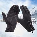 Inverno Luvas de Couro Preto Clássico dos homens Do Esporte Ao Ar Livre de Condução Luvas TouchScreen Mulheres Macho Militar Do Exército Guantes Tacticos